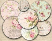 OLD CIRCLES Collage Digital Images -printable download file-