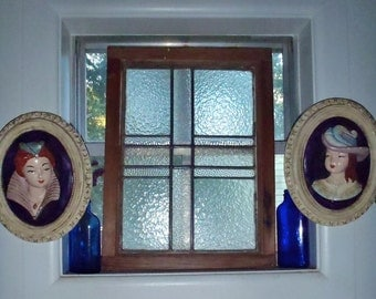 Antique Leaded Glass  Bungalow Window