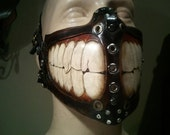 Steampunk biker Grin Mask