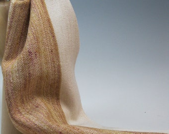 Handwoven Silk and Wool Scarf: Rodeo II