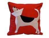 Beagle Pillow / Cone Dog Pillow / Dog Pillow / Veterinarian Gift / Veterinarians / Cone of Shame / Beagle Dog Pillow