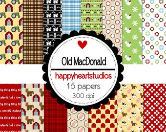 Digital Scrapbook OldMacDonald-INSTANT DOWNLOAD