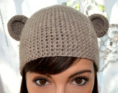 Cappello in lana, orecchie da orsetto o topolino