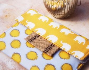 iPad Envelope Case, Ipad Case, Ipad Sleeve, Ipad mini envelope cover, case, ipad Cover in Elephants and Polka Dots