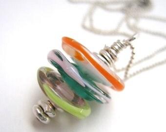 Layered Amoeba Necklace no.40