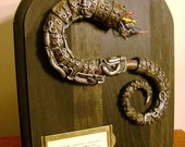 RESERVED FOR WunderkammerVendit - Severed Mechanical Tentacle - Specimen No.351 - Steampunk Industrial Plaque