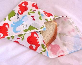 Dinosaur Reusable Sandwich Wrap