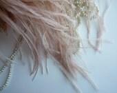 VOGUE OSTRICH Feather Fringe , Skin, Nude, Blush  / 390