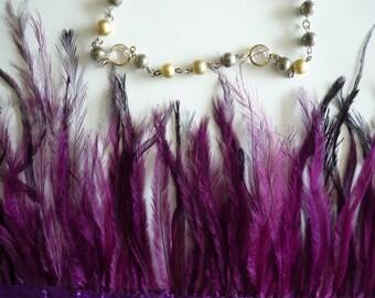 EMU  FEATHERS , Fuchsia, Plum   /  690 / On Sale