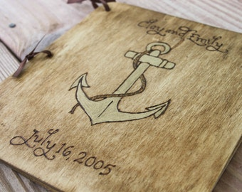Custom Wedding Guest Book - Anchor
