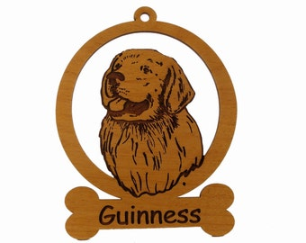 Golden Retriever Head Ornament 083257 Personalized With Your Dog's Name
