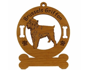 2004 Brussels Griffon Standing Personalized Wood Ornament