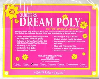 Quilters Dream Poly Request Loft Batting-Throw Size