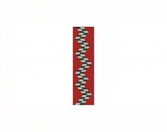Abstract 2 Cuff Bracelet - Loom or 4 Drop Even Peyote Bead Pattern