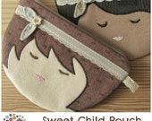 Sweet Child Zipper Pouch Pattern -PDF File INSTANT DOWNLOAD