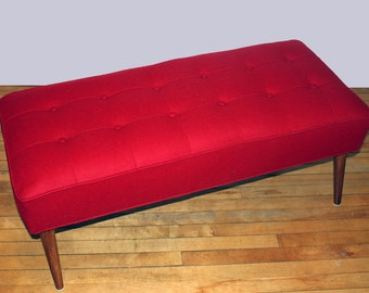 Design your Own Modern Bench Leather/Fabric - Custom Order