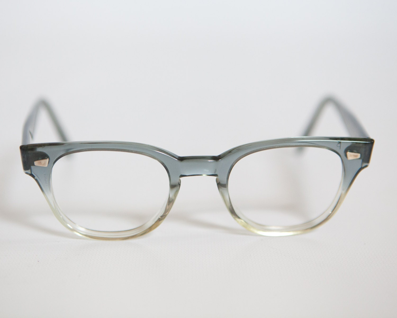 grey fade 1950s 60s hornrim eyeglass sunglass by