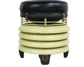 1940s Industrial Deco Fan Hassock Stool