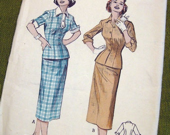 1950s Vintage Sewing Pattern - 50s Two-Piece Day Dress - Butterick 6788 // UNCUT FF Size 12