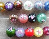 BEADS, CZECH, GLASS,  8 mm, Round, Lampwork, Color Choice,Flower, 10 Beads