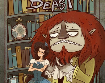 Beauty and the Beast 8x12 art print