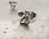 Lilac Stud Earrings in Sterling Silver