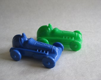 Car Blue Green Toy Plastic Vintage Miniature
