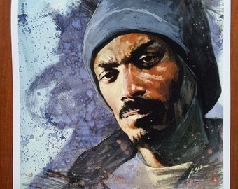 Snoop Dogg - 16 x 16 Giclee Print SIGNED EDITION