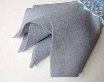 Dove, Wool Felt Square, 100% Wool, Felt Fabric, Soft Grey, Felted Wool, Applique, Stuffed Toys, Toxin Free, Washable Felt