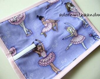 Chalkimamy Glittery ballerina TRAVEL chalkboard mat placemat (a)
