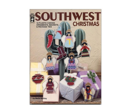 Vintage plastic canvas southwest christmas ornaments pattern for American style christmas decorations