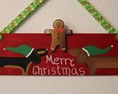 Dachshund Door Decoration Merry Christmas
