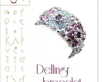 Bracelet tutorial / pattern Dellingr bracelet...PDF instruction for personal use only