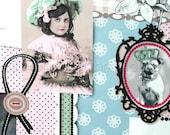 Patchwork fabric, childrens fabric,  kids fabric, cotton fabric, blue fabric, pink fabric, Romantic girl fabric