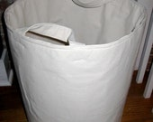 Extra Large Canvas Bucket Container in Natural