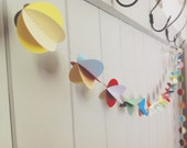 3D Paper Garland - Pom Pom Garland - Multicolored - Party Decoration - Nursery Decor - Photo Prop - Paper Decoration - Choose Your Length