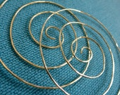 Large Hoop Earrings.  CYCLONE. Hammered Surface. 20 gauge. solid brass wire.