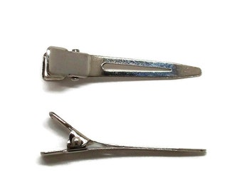 100 Single Prong Alligator Hair Clips 45mm (1 3/4 inch)