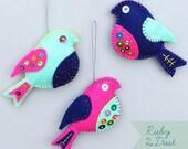 Felt Bird Embroidery Kit