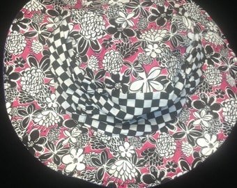 Reversible Scrunchy hat  4 months to adult size