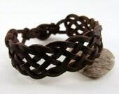 Sleek Ocean Weave Celtic knotted bracelet