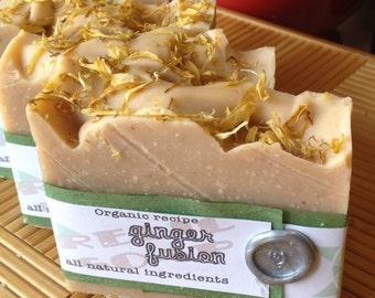 Ginger Fusion Organic Artisan Soap