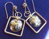 Silver Plated Short Butterfly Earrings