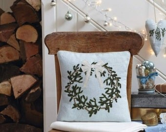 Cross stitch pattern WREATH - mistletoescandinavian christmaschristmas pillowchristmas cross stitch & Anette Eriksson Design by anetteeriksson on Etsy pillowsntoast.com