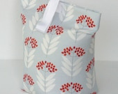 Pale Blue Floral Doorstop fabric Door Stop Doorstopper