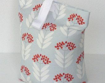 Pale Blue Floral Doorstop fabric Door Stop Doorstopper