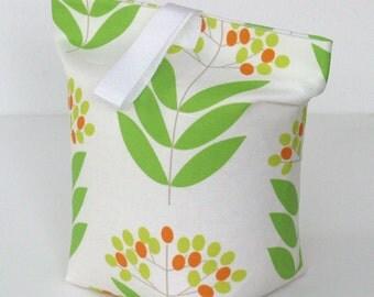 Green Elderberry print fabric door stop