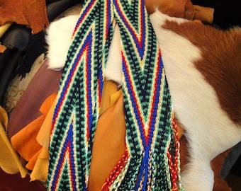 SUMMER SALE Finger Woven Sash in Chevron Design
