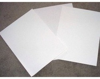 "Vinyl Clear Static Cling Crafts, Window Shield,Tank Protection,Screen Protection Vinyl   3- 12"" x 12"" Sheets/Rolls"
