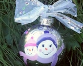 Grandparent Godparent Ornament Snowmen Snowman Personalize